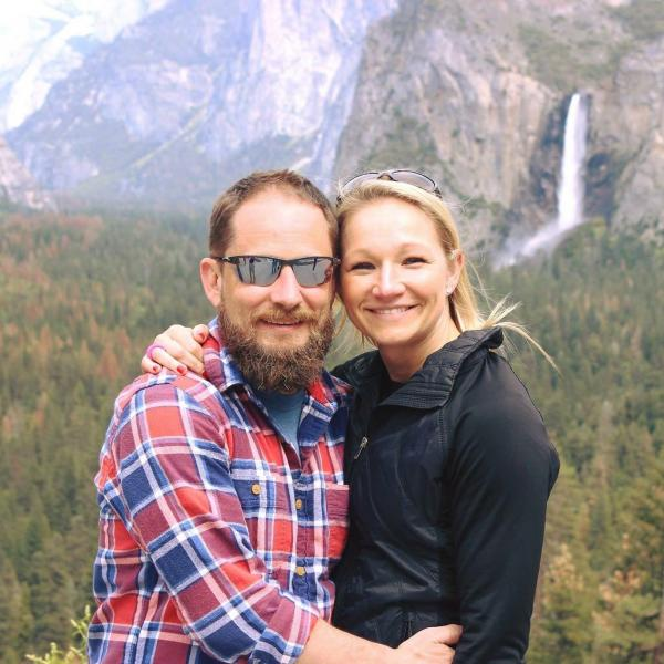 jeremiah & tess hiking