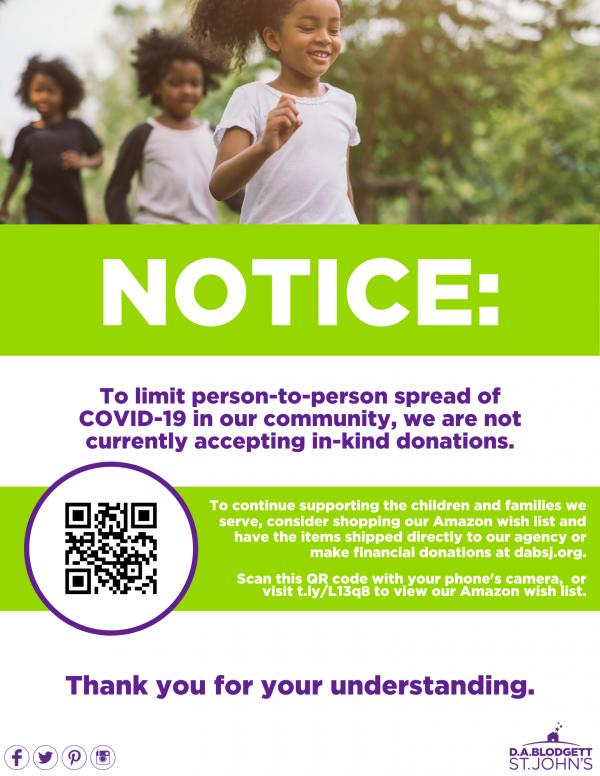 Donations-notice