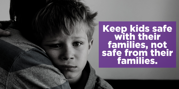 keep kids safe with their families