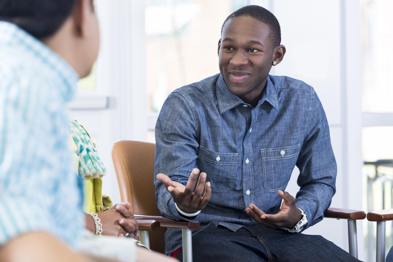 Teen getting counseling
