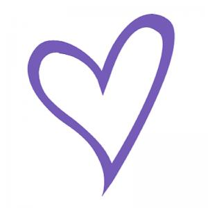 Purple Heart Contact Icon