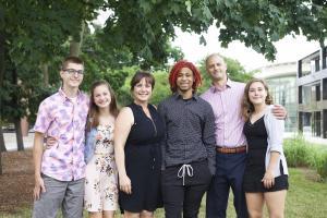 trajon's family adoption day photo